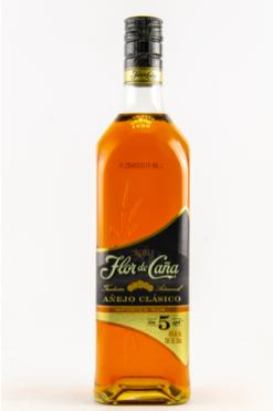 Flor de Caña Rum Añejo Classico 5y - 70 cl - 40°