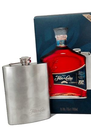 Flor de Caña Rum Centenario 12y - 70 cl - 40° in etui met met Flask